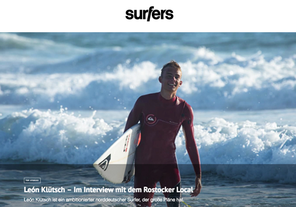 Interview Surfers mit León Klütsch